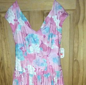 Alfred Angelo Dress Vintage 1980s size 7/8 Floral